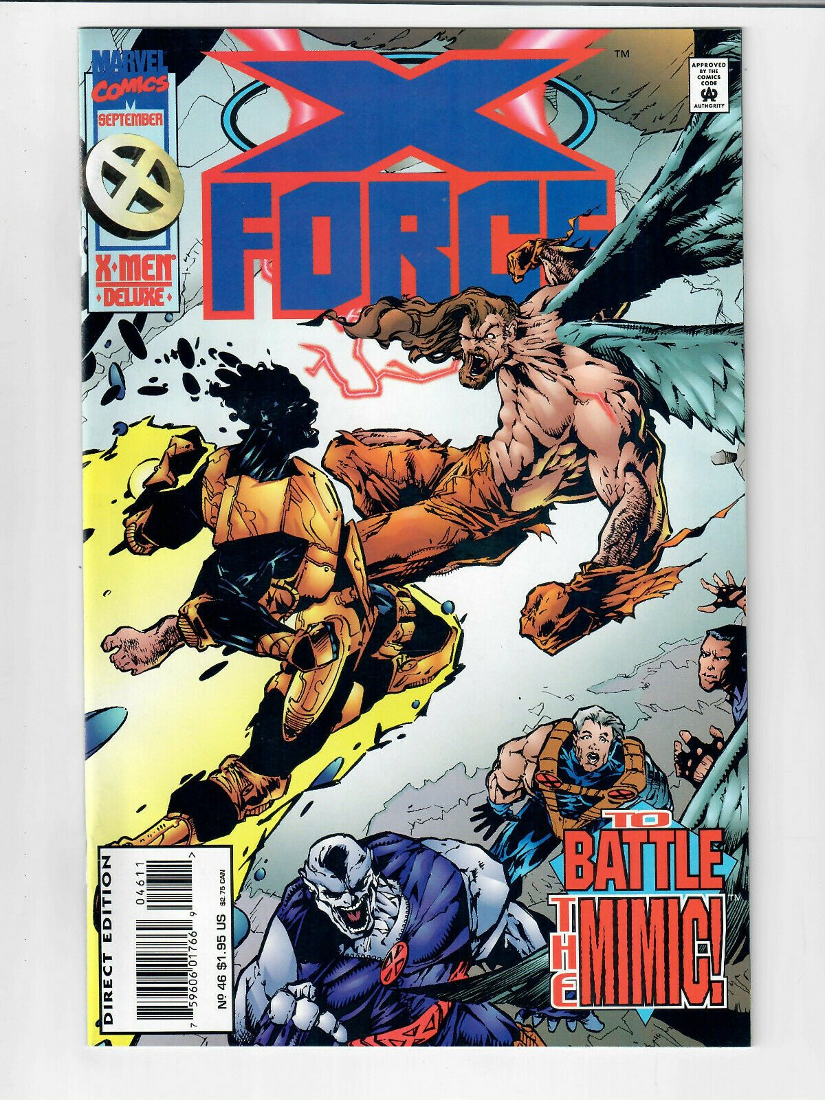 X-FORCE TO BATTLE THE THING #46 SEPT 1995 MARVEL COMIC#119721D-4