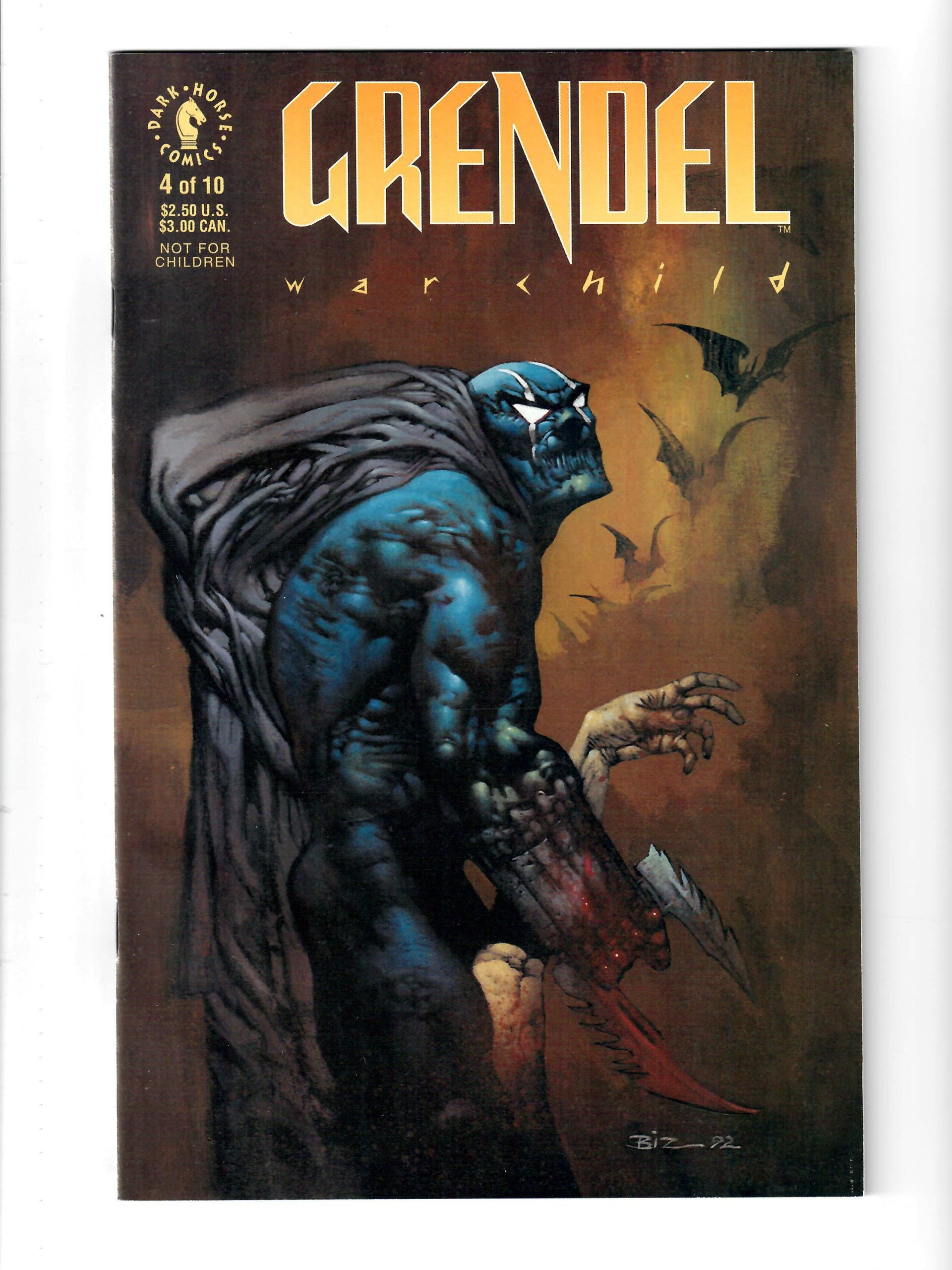 Dark Horse Comics Grendel War Child #4 Nov 1992 Comic #141843-10