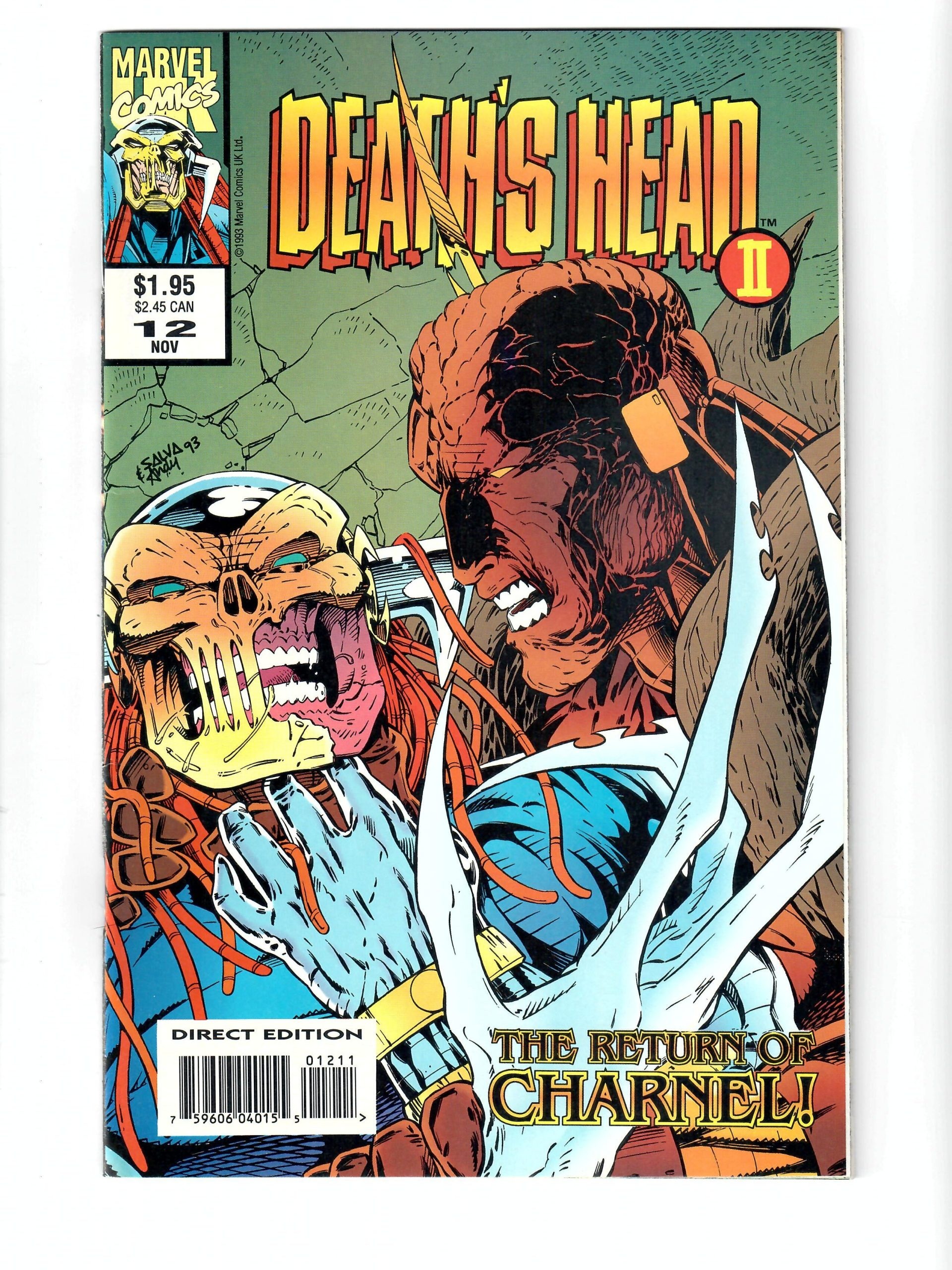 Marvel Comics Death's Head The Return Of Charnel! #12 Nov 1993 Comic #141749-10