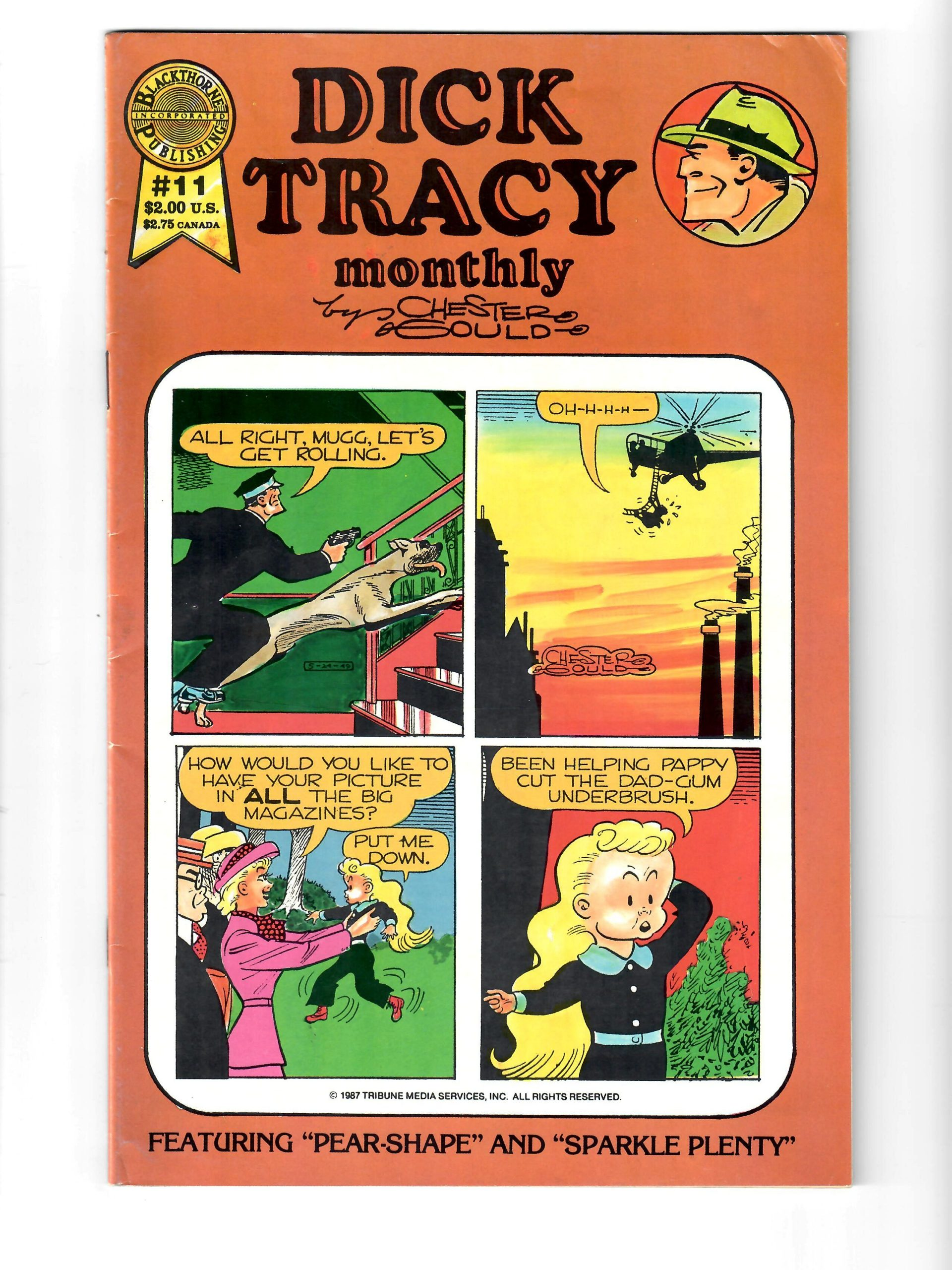 Blackthorne Comics Dick Tracy #11 March 1987 Comic #141750-10