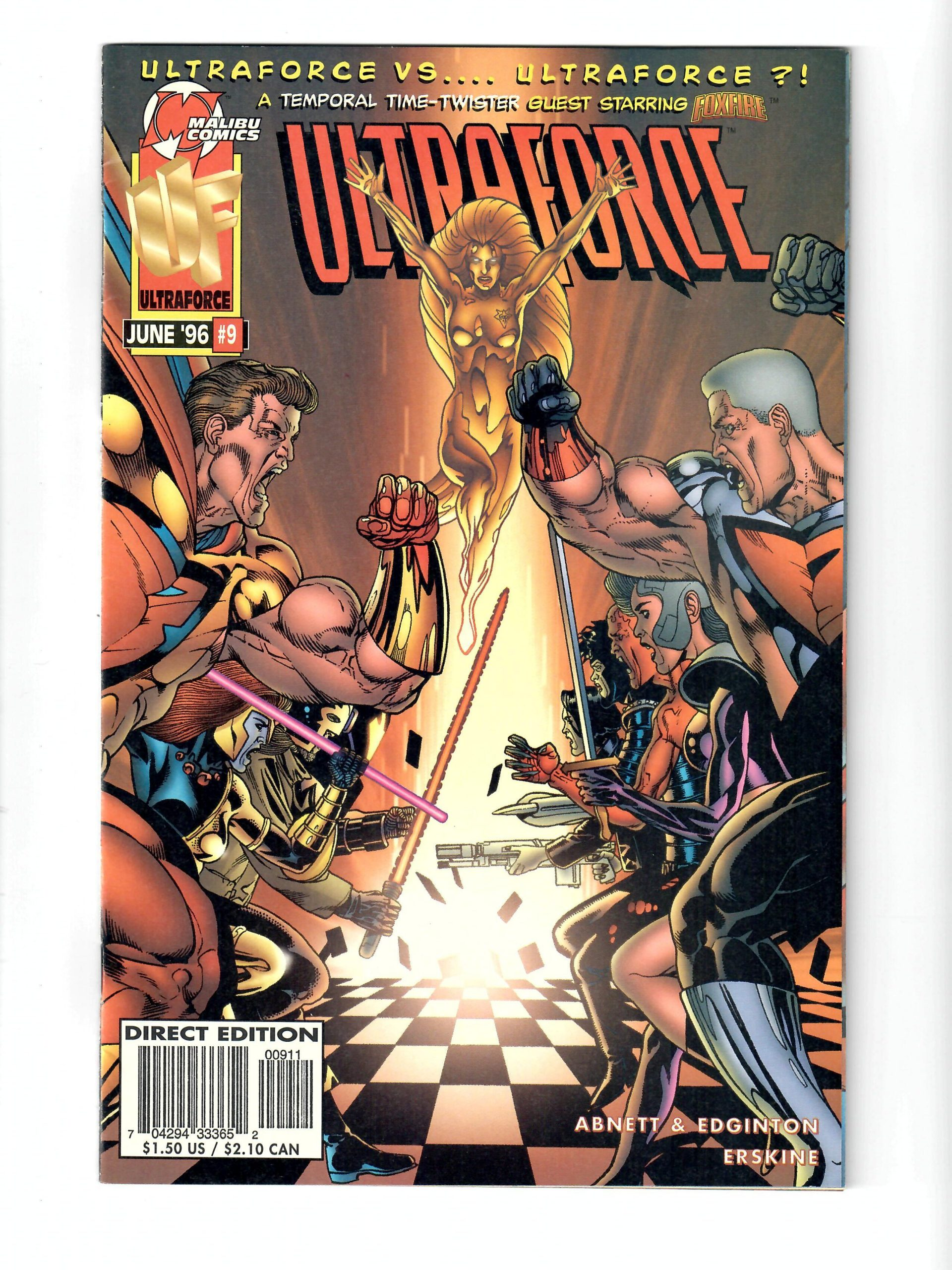 Malibu Comics Ultra Force #9 Jun 1996 Comic #141756-10