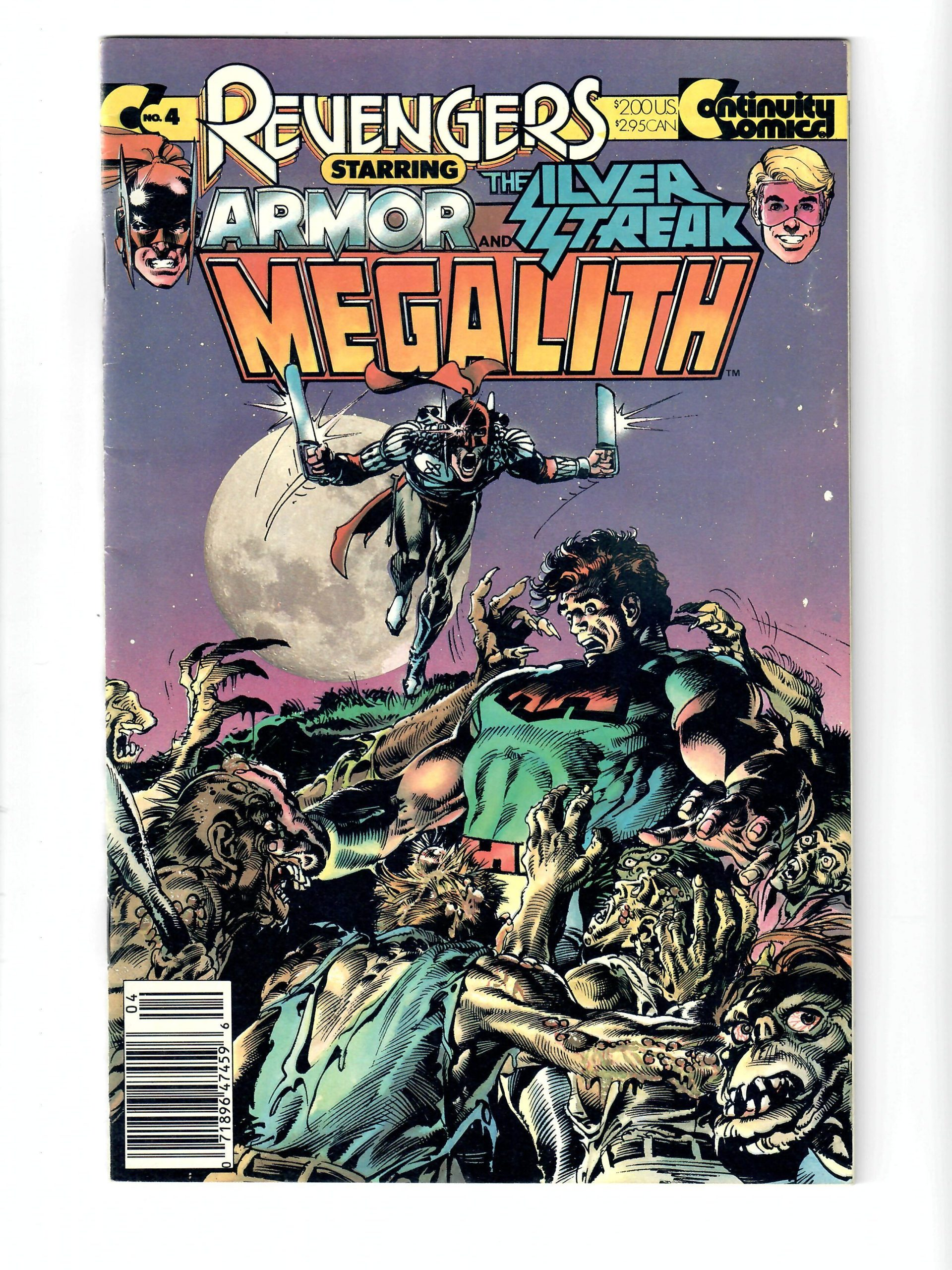 Continuity Comics Armor and The Silver Streak Megalith #4 Mar 1988 Comic #141760-10