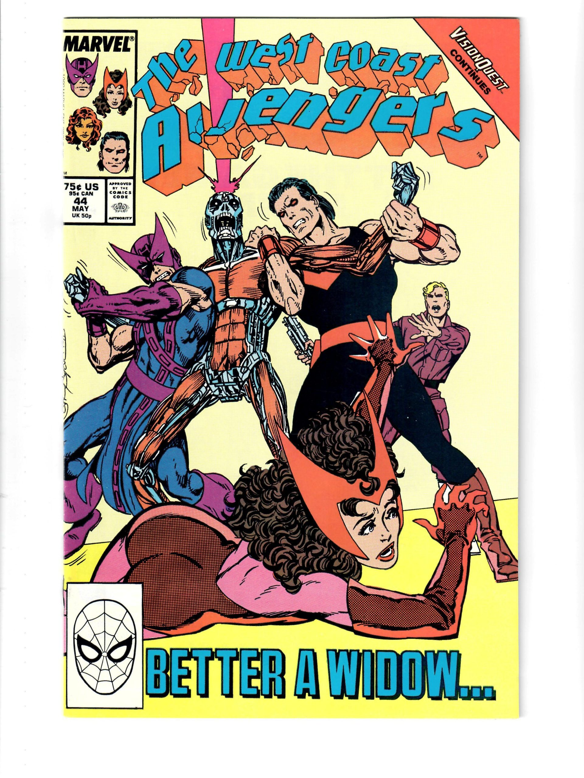 Marvel Comics The West Coast Avengers #44 May 1989 Comic #141829-10