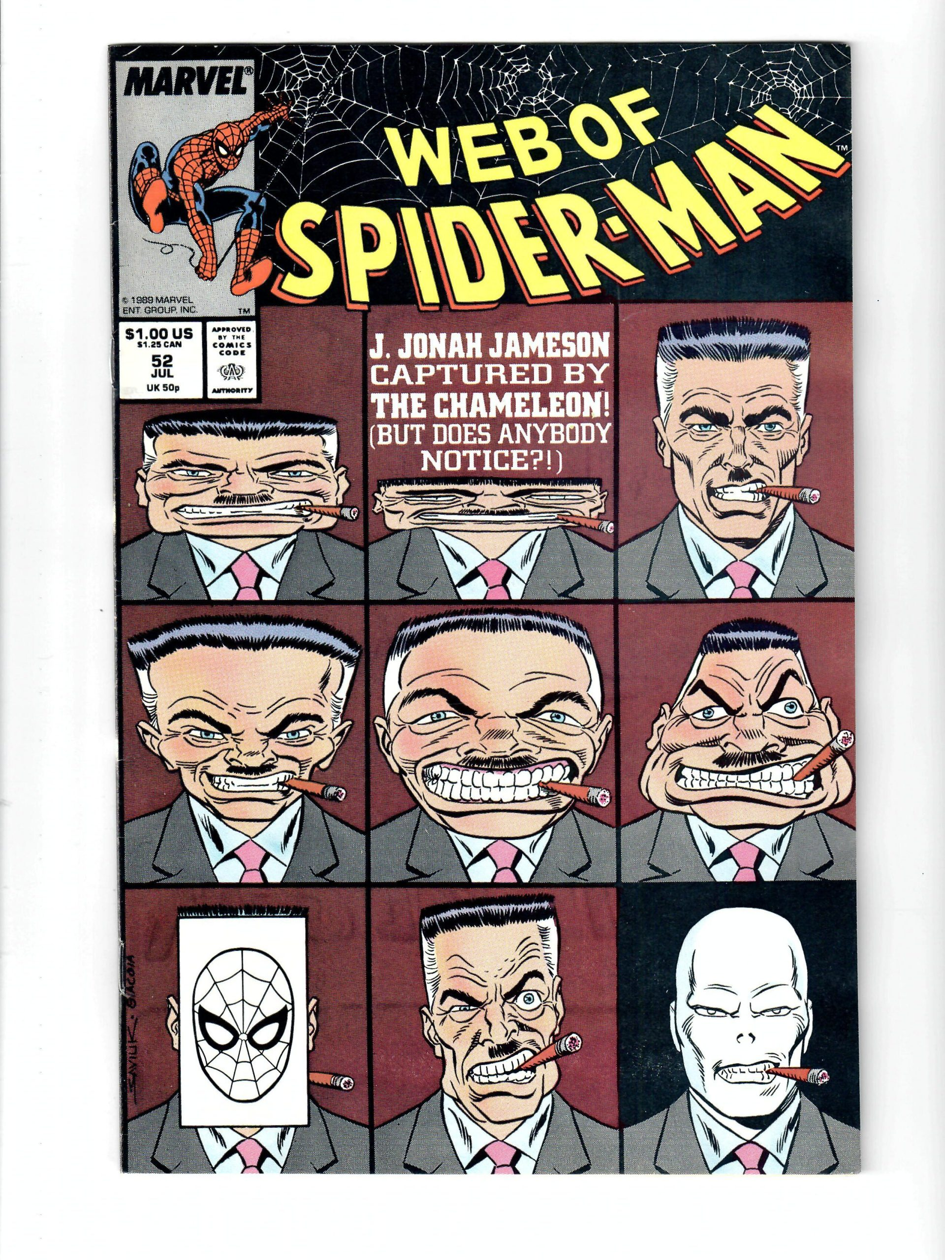 Marvel Comics Web Of Spider-Man #52 Jul 1989 Comic #141830-10