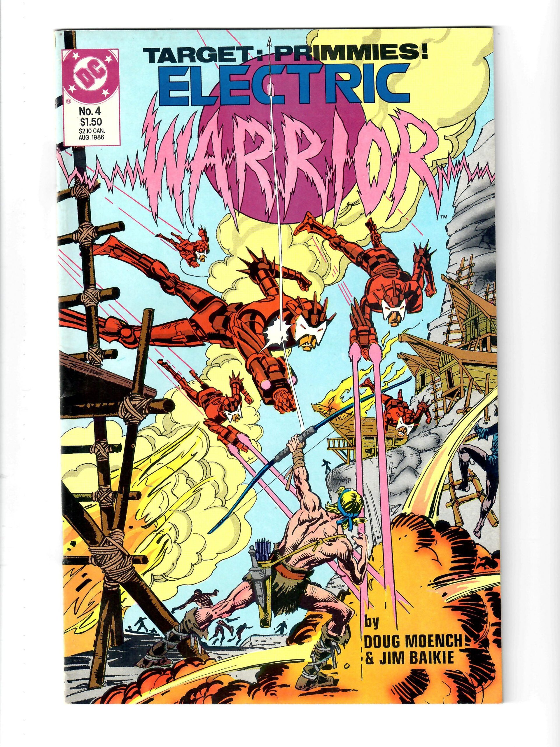 DC Comics Target: Primmies! Electric Warrior #4 Aug 1986 Comic #141836-10