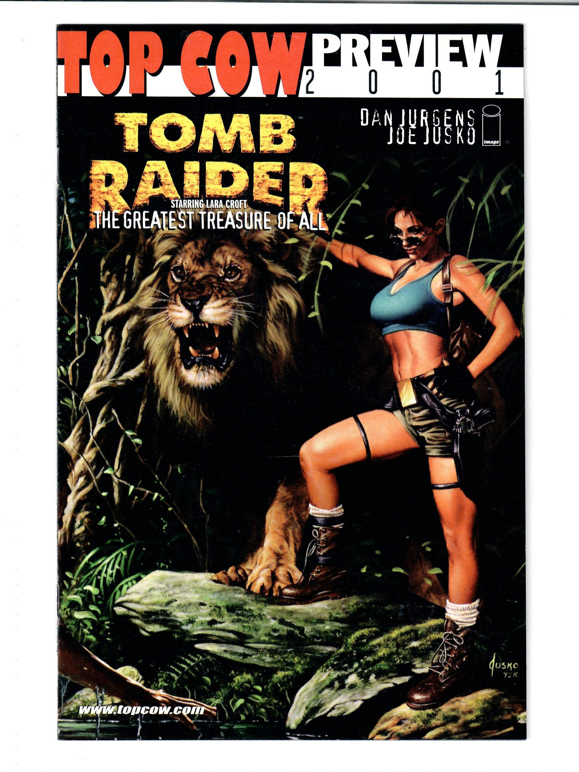 TOP COW COMICS TOMB RAIDER PREVIEW 2001 #1 2001 FIRST PRINT VG COMIC #149831-D-2