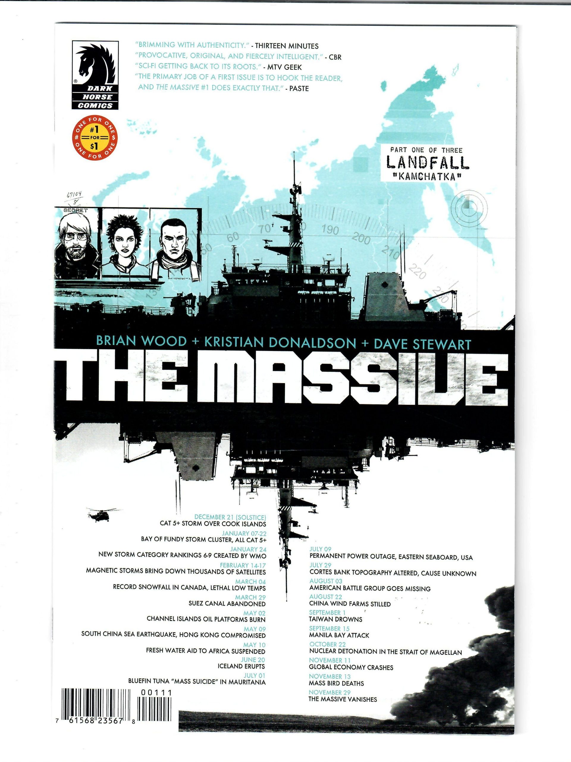 DARK HORSE COMICS THE MASSIVE #1 APR 2012 VG COMIC #149838-D-2