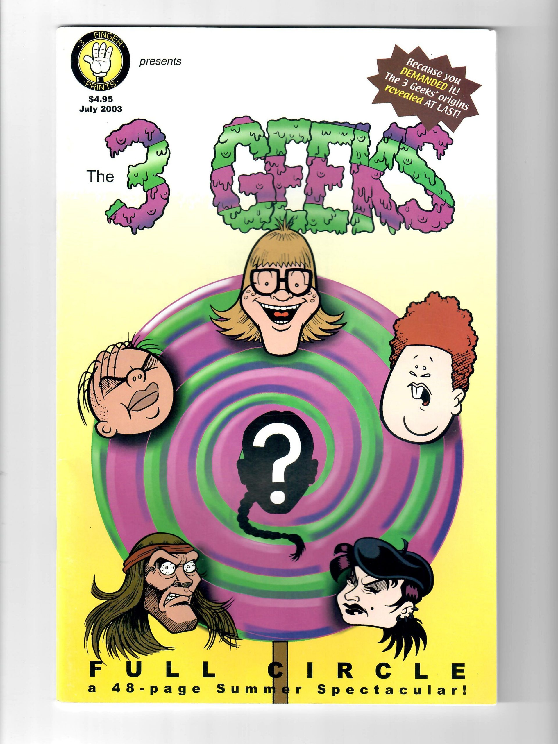 3 FINGER PRINTS COMICS THE 3 GEEKS #1 JUL 2003 COMIC #157586-6
